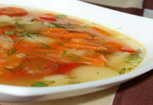 Нутовый суп вегетарианский