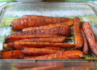 Пряная запеченная морковь