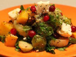 Грузинский салат из сырых овощей