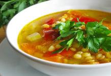 Вегетарианский суп с рисом